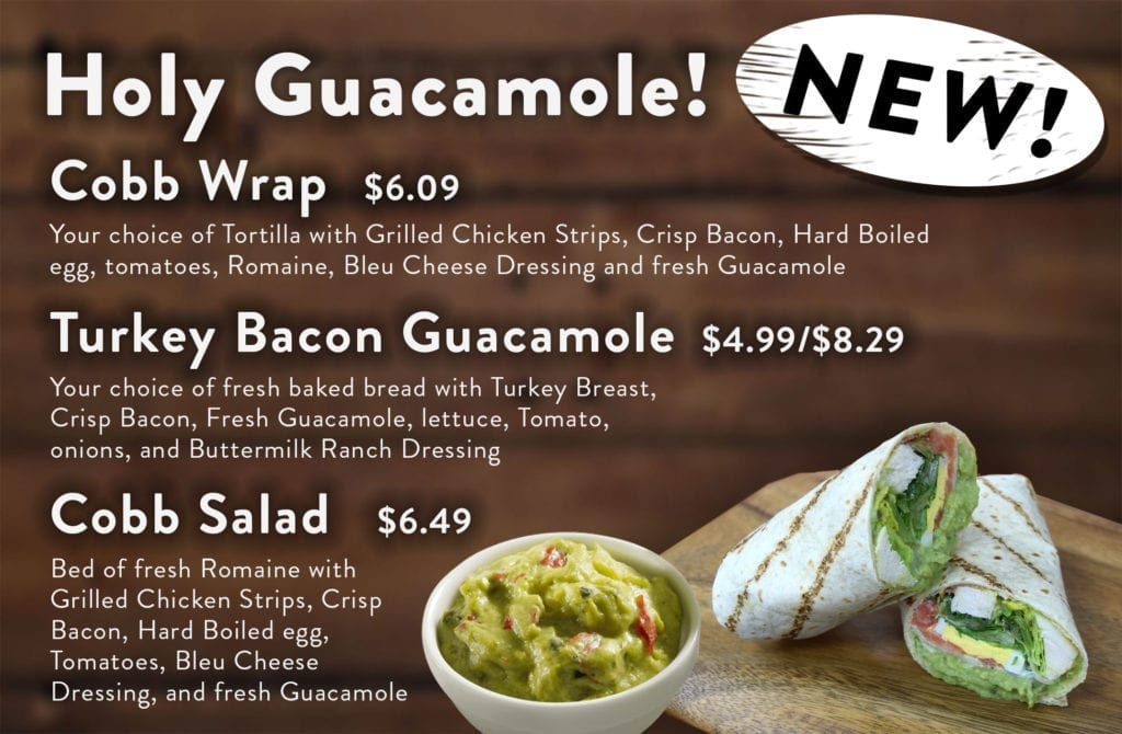 Cliff's Guacamole Menu