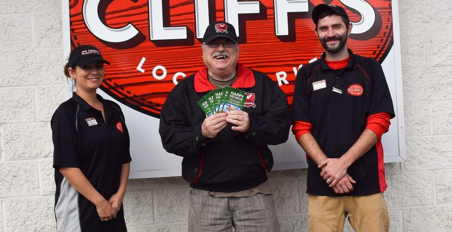 Craig Myers Cliff's Gas Card Winner