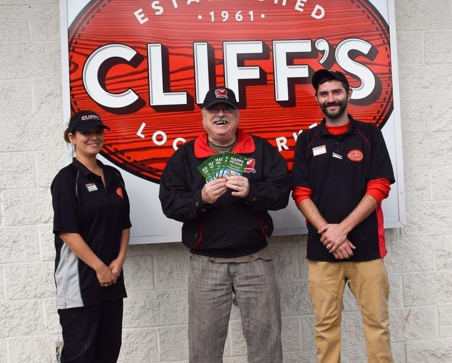 Craig Myers Cliff's Gas Card Winner