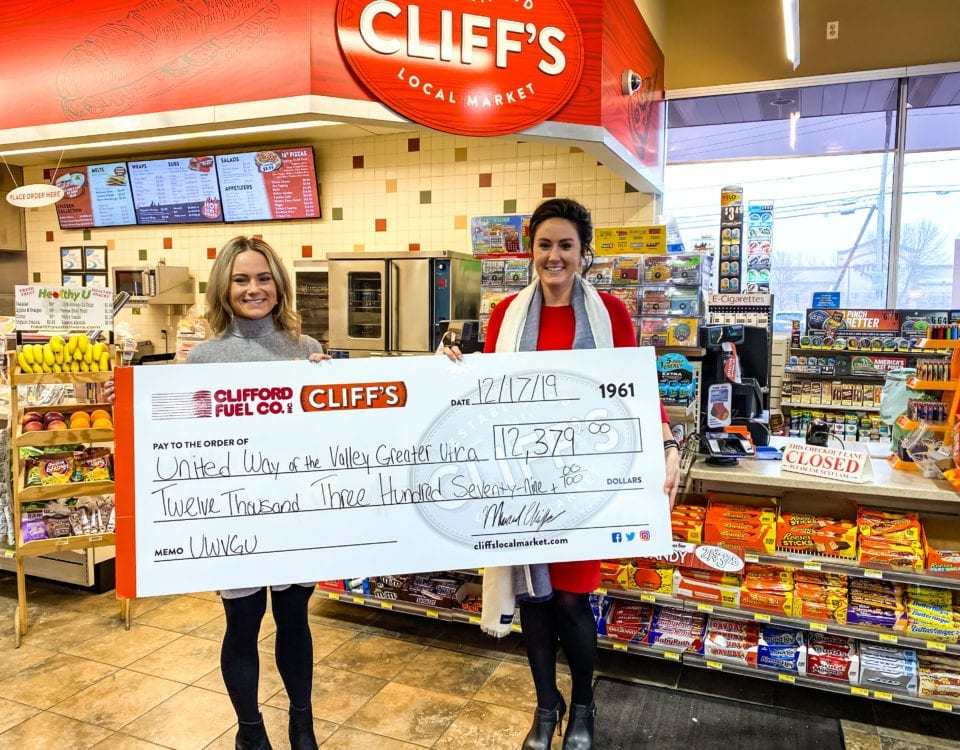 Cliff's Local Market Donates $12,379 to United Way