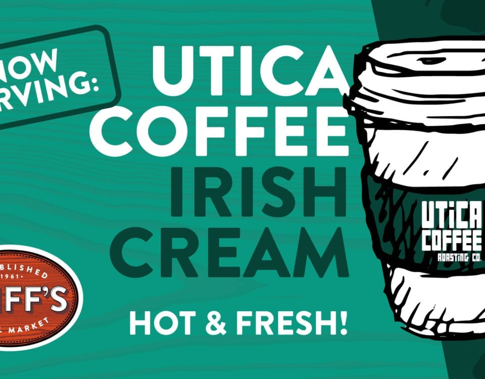 now serving irish cream coffee