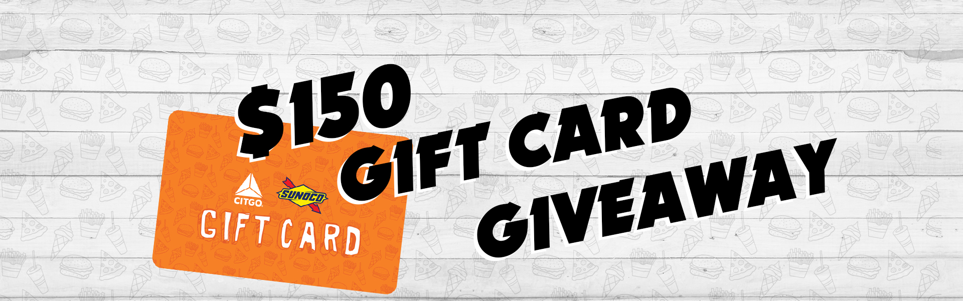 $150 gift card giveaway