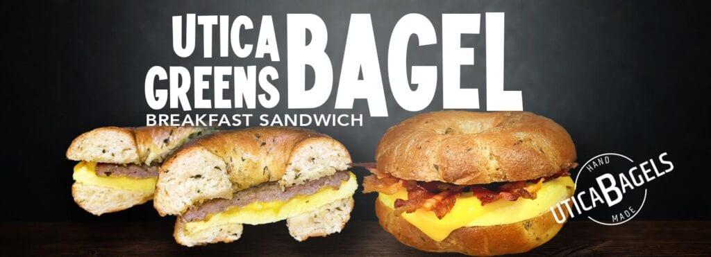 Utica Greens Breakfast Sandwich