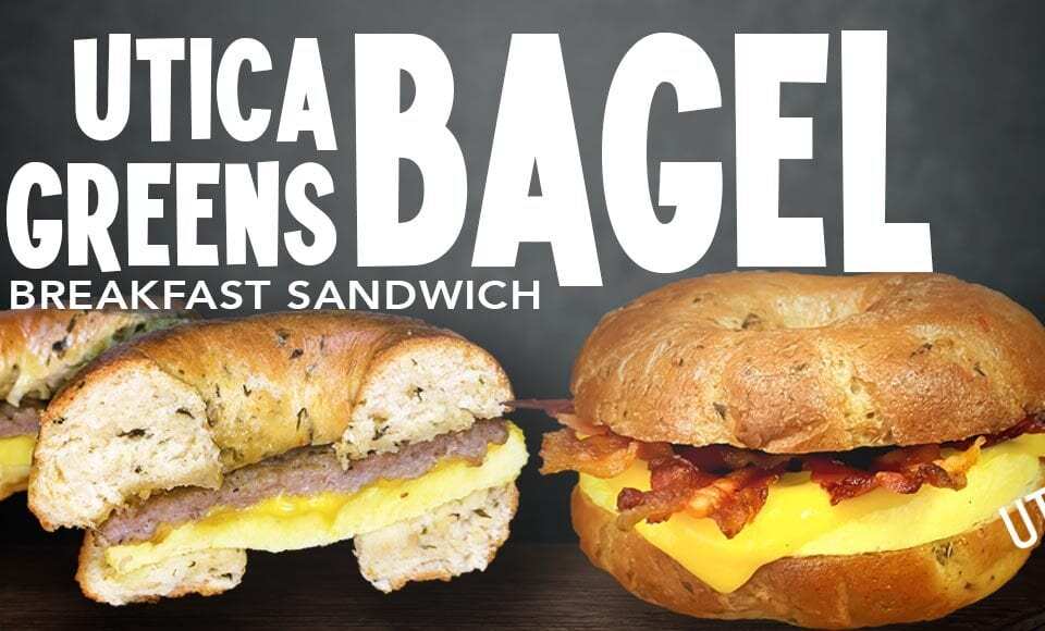 Utica Greens Breakfast Sandwich